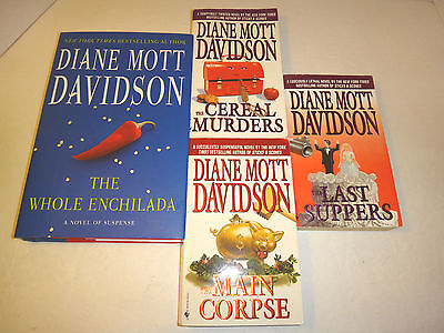 Lot of 4 Diane Mott Davidson Culinary Cozy Mysteries - HC/PB The Main Corpse +