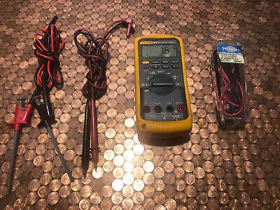 Fluke 87v Digital Multimeter W Leads Extras