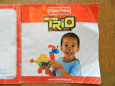 Trio Building Set P6837 Complete EUC Fisher-Price Bricks Sticks Panels Blocks