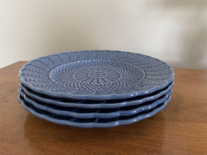 Bordallo Pinheiro Blue Dessert Plates - Set Of 4