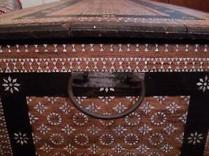 Wooden Shell Inlay Moroccan Storage Chest Fortitude Valley Brisbane North East Preview