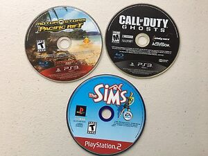Motor Storm Pacific Rift, Call of Duty Ghosts and The Sims