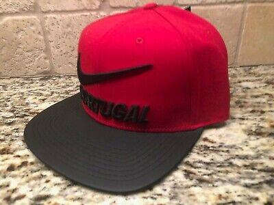 PORTUGAL SOCCER NIKE RED & BLACK MEN'S SNAPBACK CAP HAT *SHIPS IN A BOX!*