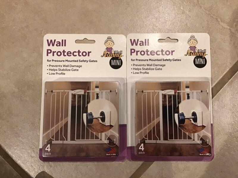 Lot Of Two 4 Packs Wall Nanny Baby Gate Wall Protector Protect Walls & Doors