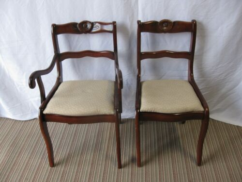 Craddock Furniture  Antique Mahogany Duncan Phyfe Dining Chairs Set of 6