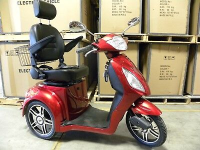 Red Adult Motorized Electric Mobility Scooter, handicap mobile scooters