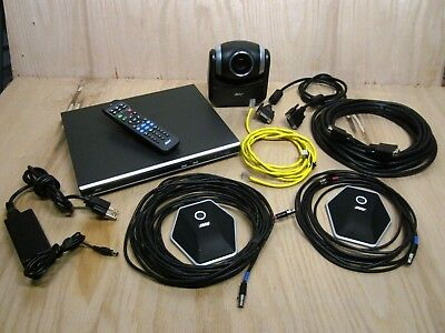 Aver Hvc310 Ptz 720p Hd Video Conference System With Mics And Cables See Images