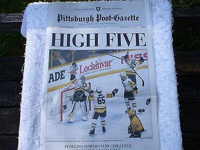 Stanley Cup Win Penguins Pittsburgh Post Gazette Entire  Newspaper June 12  2017