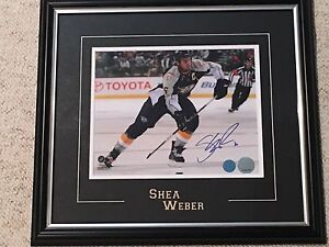 Shea Weber signed framed 8x10