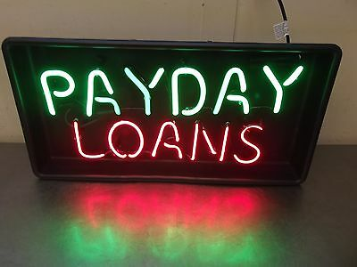 Payday Loans 2 Color Neon Sign New In Factory Sealed Box Free Shipping M1561