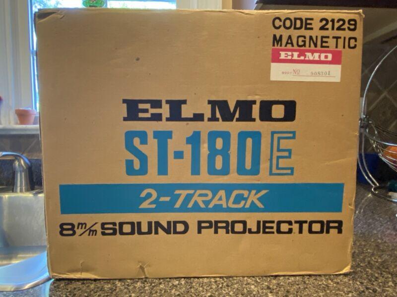 Elmo ST-180E M 2 - Track Super 8 Sound Projector - New in Box - See Description