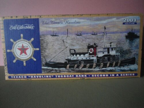 """Texaco """" Havoline """" Tugboat Bank 2nd in a series New in Box"""