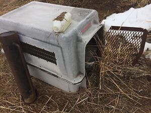 Dog kennel for chickens.