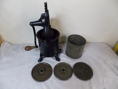 Antique Enterprise 2 Quart Sausage Stuffer Wine Lard Press Cast Iron