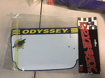 NOS Old School BMX White Number Plate Sticker Your Choice