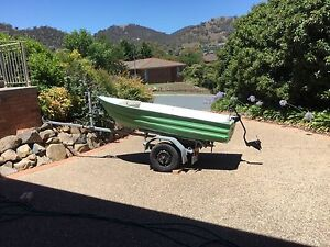 10 foot tinny car topper with trailer and electric motor Conder Tuggeranong Preview