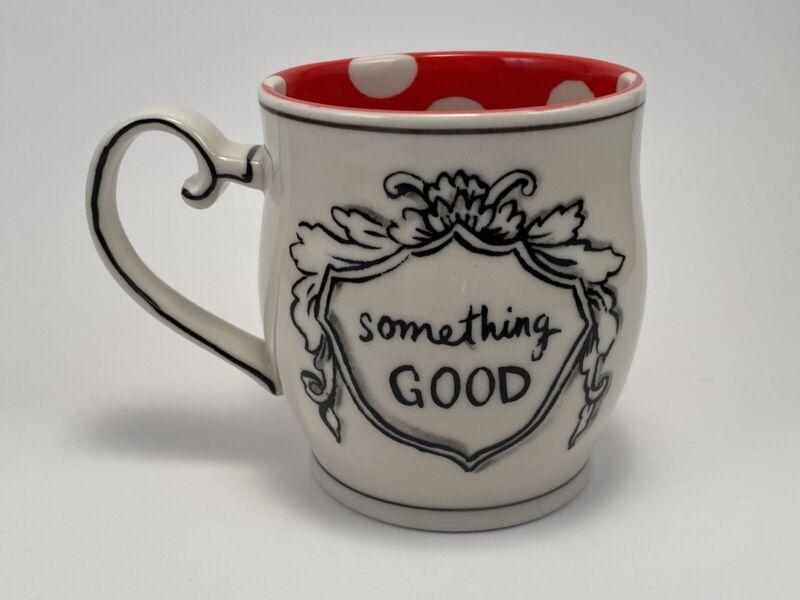 Anthropologie Molly Hatch Crowned Leaf Series Something Good Stoneware Mug