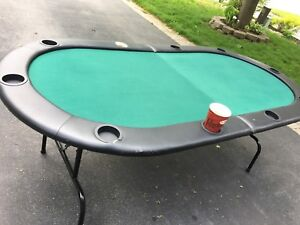 Portable folding poker table