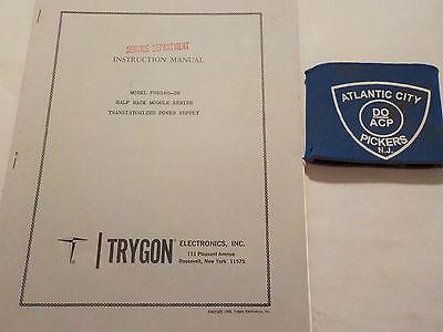 Trygon Phr160-2b Half Rack Module Power Supply Instruction Manual