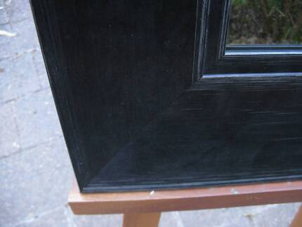 Wall Mirror Classy Art Deco Style Black Timber Frame