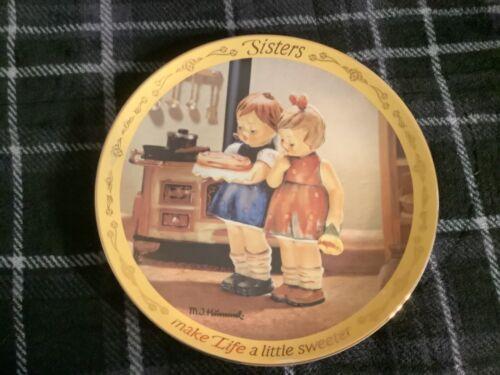 M.I Hummel Make Life A Little Sweeter Sisters Plate Free Ship