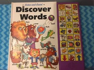Discover Words Soundbook Listen And Learn