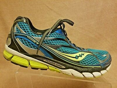 Saucony 520241 Ride 7 Power Grid Men Blue Sport Athletic Running Shoes Size 12