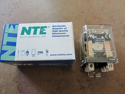 R55-11d20-12f Dpdt 25a-12vdc Nte Electronics Relay New In Box