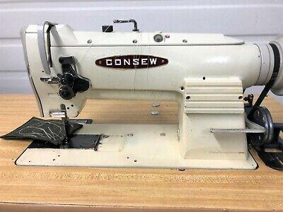 Consew 255rb-2 Walking Foot Big Bobbin 110v Servo Industrial Sewing Machine