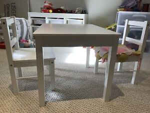 Free Toddler Table and Chairs white **used**