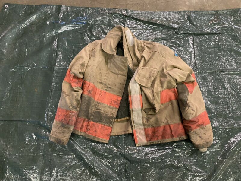Vintage Quaker Firefighter Bunker Turnout Coat 46 Chest Jacket Gear