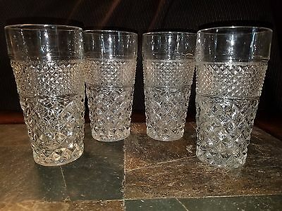 """4 Anchor Hocking """"Wexford"""" Iced Tea Glasses 6 1/4"""""""