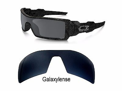 Galaxy Replacement Lenses For Oakley Oil Rig Sunglasses Black Iridium (Oakleys Oil)