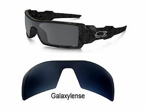 22eae75d1ea Galaxy Replacement Lenses For Oakley Oil Rig Sunglasses Black Iridium  Polarized
