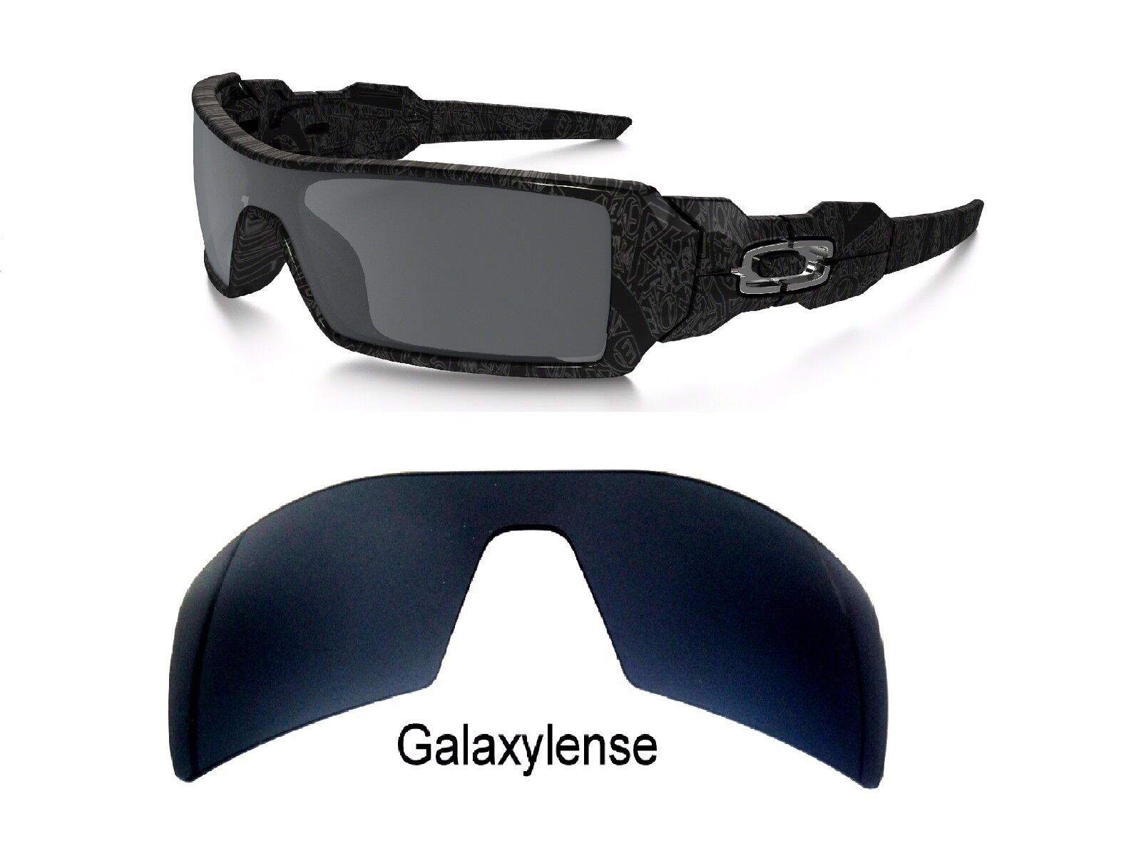 Galaxy Replacement Lenses For Oakley Oil Rig Sunglasses Black Iridium  Polarized db95d4c02f