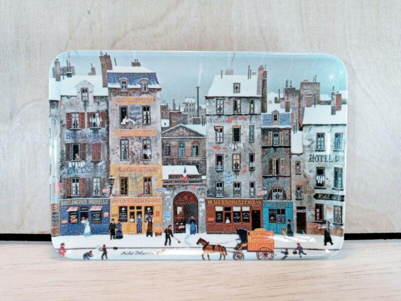 Decorative Crafts Michel Delacroix Winter Scene Tray Platter Melamine Italy