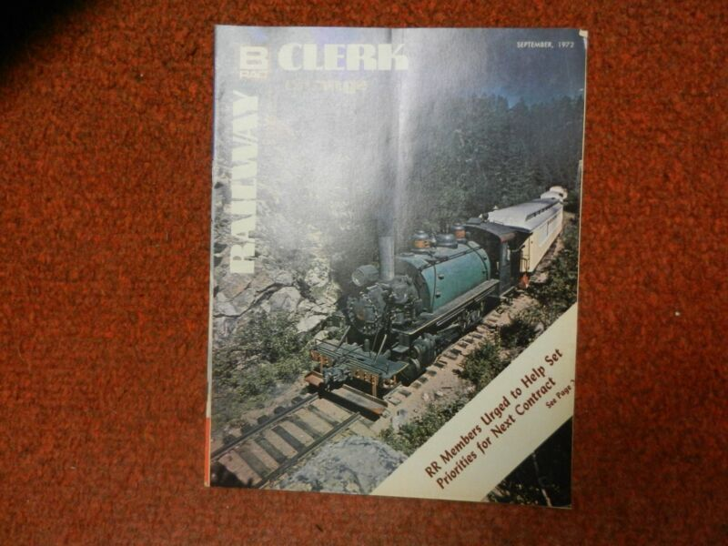 Railway Clerk Interchange  Magazine September, 1972