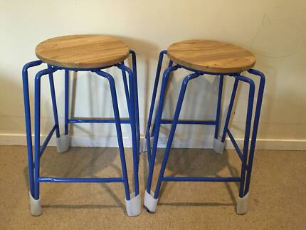Heavy duty footrests Sturdy Modern Metal Bar Stools X4 Wantirna South Knox Area Preview