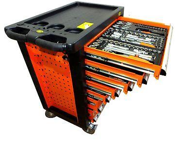 Werkstattwagen mit Werkzeug Werkzeugwagen Werkzeugkiste Werkzeugkasten gefüllt
