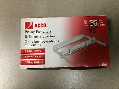 Standard Two-piece Paper File Fasteners 2 Capacity 2 34 Center 45box
