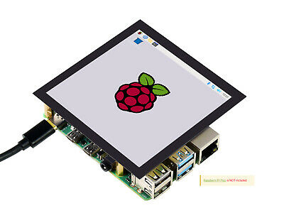 Waveshare 4inch Square Capacitive Touch Screen Lcd C For Raspberry Pi Dpi Ips