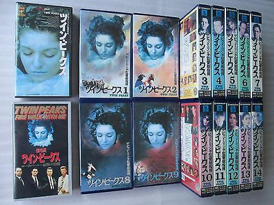 TWIN PEAKS: All 14 volumes&Bonus Video Two - Japanese original VHS  RARE