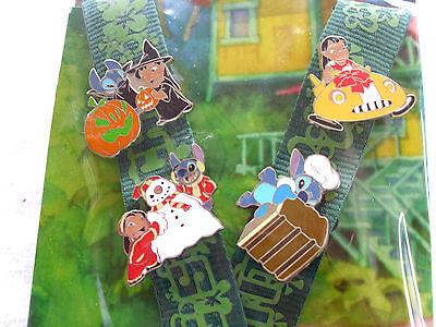 Disney * LILO & STITCH * 4 pin Starter Set w/ Lanyard & Card