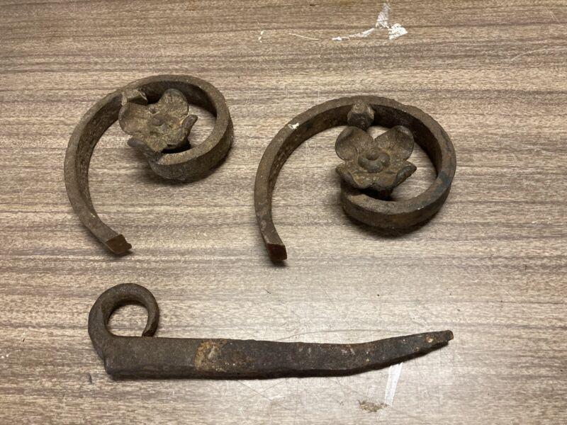 Vintage Wrought Iron Pieces x 3