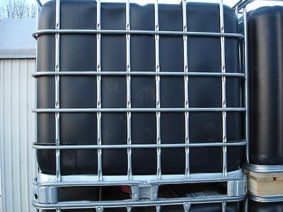 Gebraucht, 1000 L Wassertank , IBC Container , Regentonne , schwarze Blase , Top wie neu. gebraucht kaufen  Delmenhorst