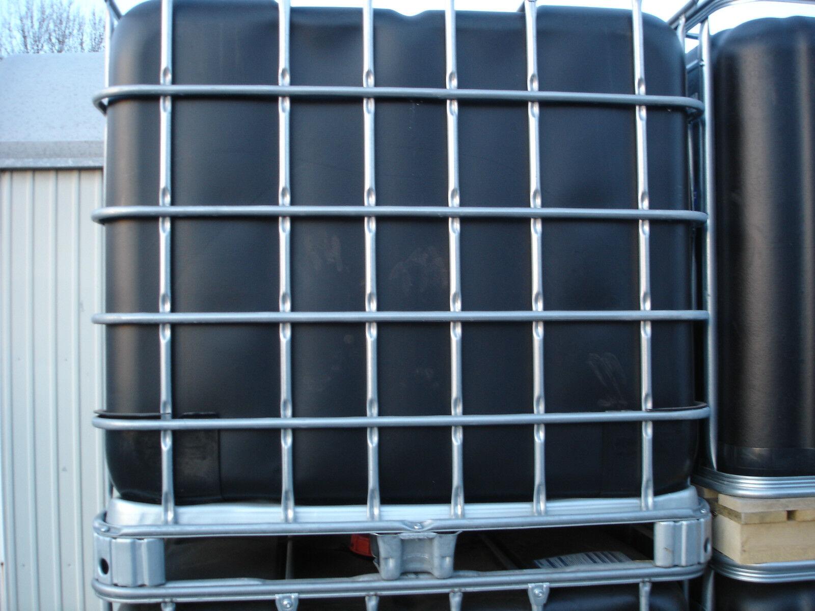 1000 Liter IBC Wassertonne Regentonne Container auf Kunststoffpalette GESPÜLT