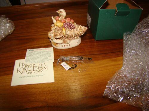 Harmony Kingdom Feasty Fest Turkey and Cornucopia UK Made Box Figurine