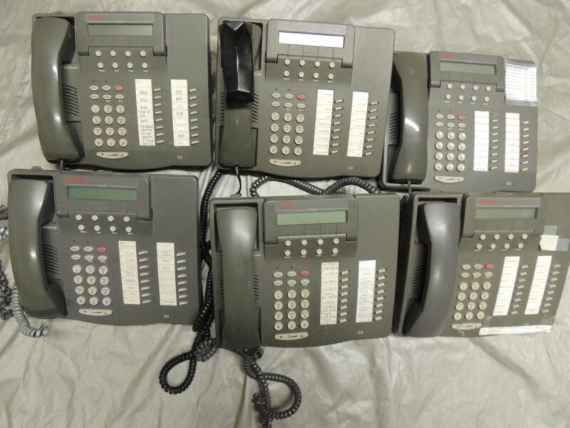 Lot of 6 Avaya 6416D+M / 108807611 Business Office Phones