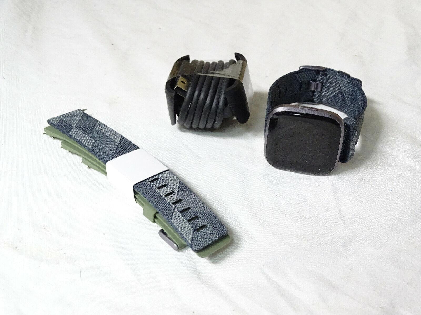 versa 2 fb507 smartwatch fitness tracker black