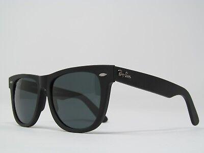 New Ray-Ban Wayfarer Sunglasses Matte Black Frame on Blue/Gray Lenses 54mm